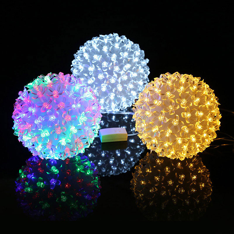 Newest Plum Flower Indoor Courtyard Party Garden Decor Light LED Lamp Festival Illuminative Lights String