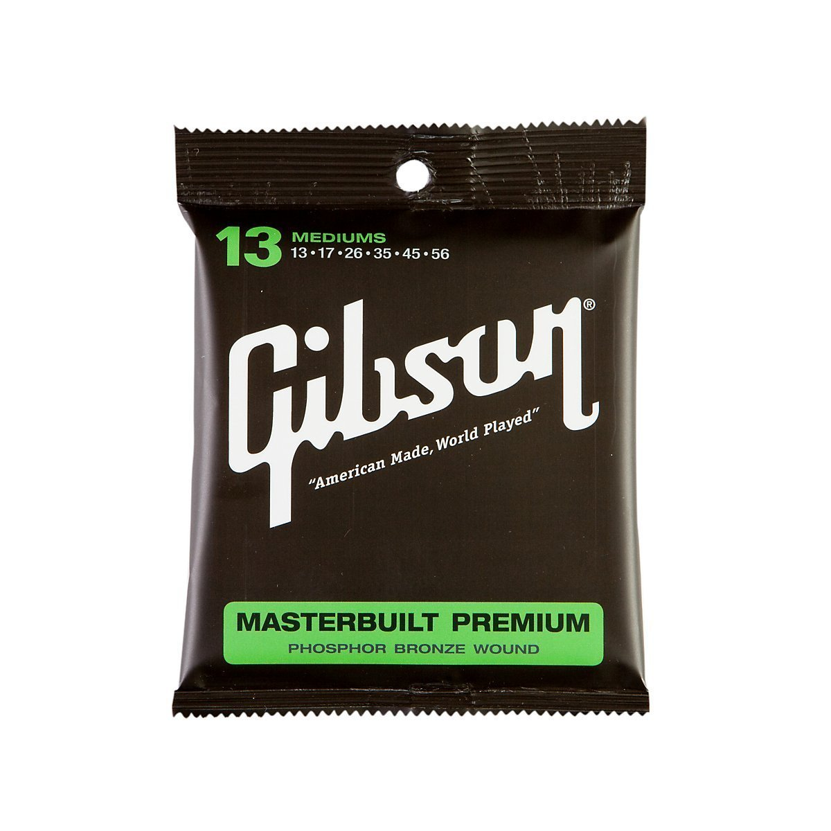 Gibson SAG-MB13 Masterbuilt Premium Phosphor Bronze Acoustic Guitar Strings, Medium, 013-056