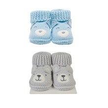 Lion Bear 2 pair/lot infant Baby foot socks for babies 0-3 months newborns shoes girls boys cotton animal Cartoon shoe baby