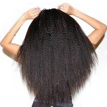 Бразильский девственные волосы курчавые прямо Человеческие волосы Weave Связки Мёд Queen Hair натуральные продукты Цвет Грубый Яки Инструменты для завивки волос