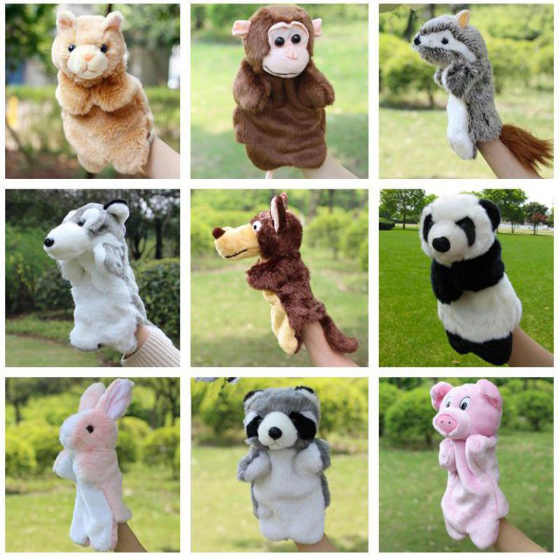 Animal Hand Puppets Monkey Duck Cow Cat Dog Panda Rabbit Dolls Baby Toys Brinquedo Marionetes Fantoche Best Toys For Children image