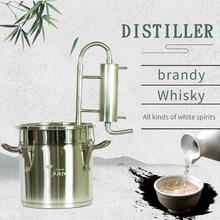 New 12L Family Small Distillator Moonshine Self-Wine Tools Brandy Whiskey Vodka Party Party Brewing Distillation Equipment new 4 od105mm ss304 bubble plate for 4 distillation column home brewing distillation reflux column moonshine