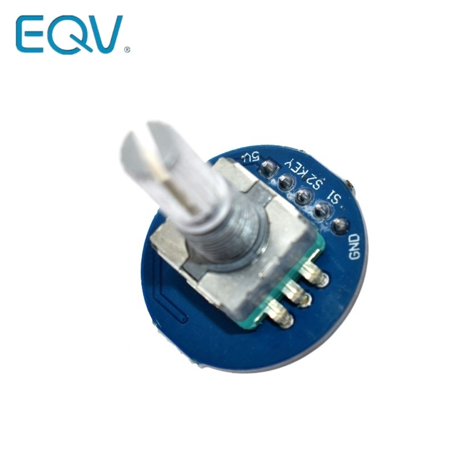 Rotary Encoder Module for Arduino Brick Sensor Development Round Audio Rotating Potentiometer Knob Cap EC11 2