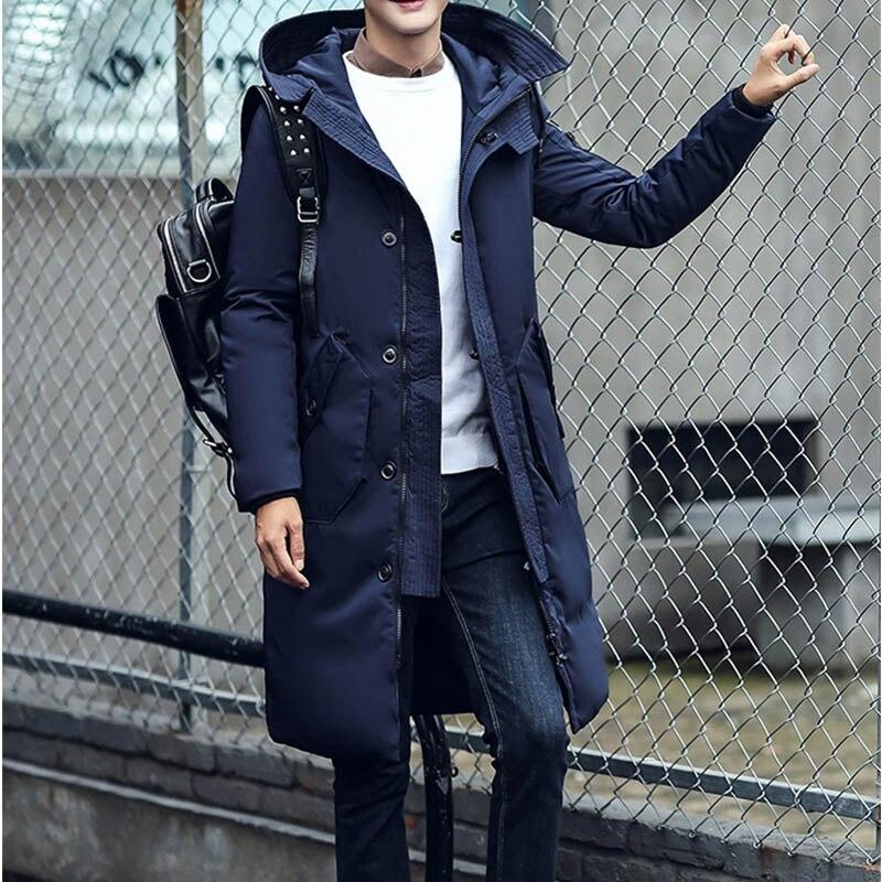 Occasionnel Longs Chaud blue Manteaux Canard Bas Le Vers Duvet kaqi Eslite Fit 2018 Qualit Black Blanc De Capuche Slim Hommes À Veste Hyun Haute Hiver F8nq4C