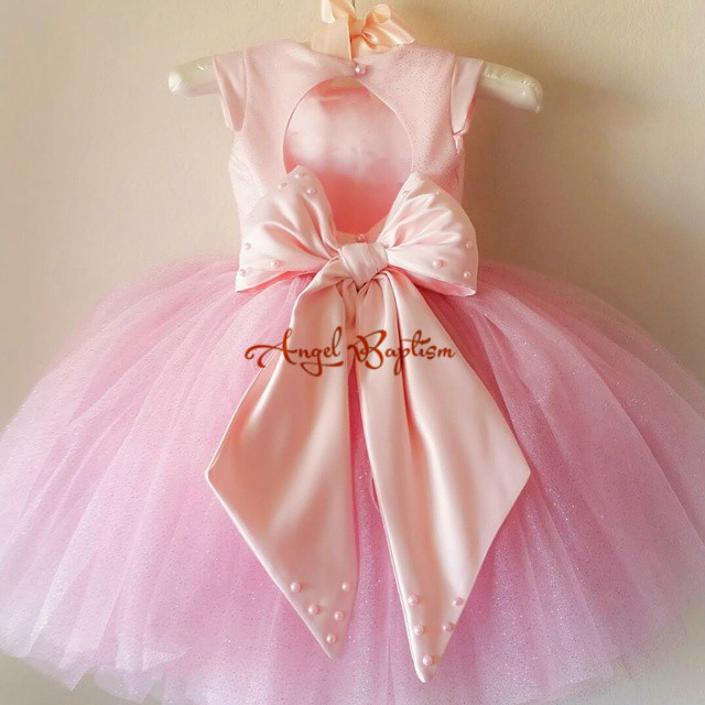 2016 Sample Puffy Flower Girl Dresses with big bow for wedding Ball Gowns first communion dresses for girls pageant dresses golf ball sample display case