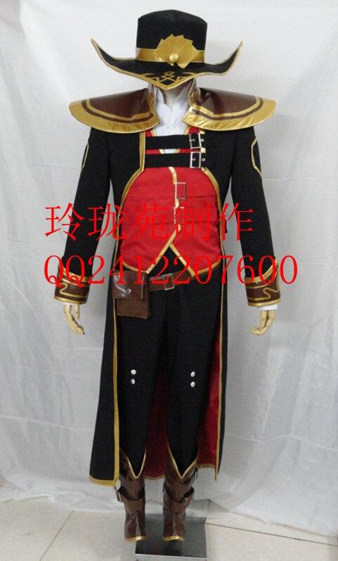 LOL sort tordu la carte Master tenue uniforme originale Halloween Cosplay Costume A018