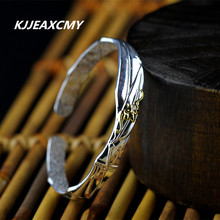 Thai silver jewelry, 990 sterling silver matte heavy-bottomed female models Bangles free shipping matte silver