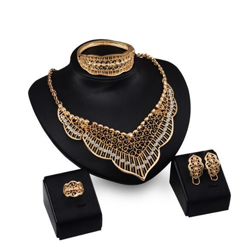 Jewelry-Sets Wedding-Accessories Dubai Bridal Gift Nigerian African Fashion Big Wholesale-Design