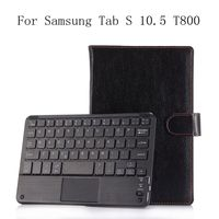 Ultra thin Wireless Bluetooth Keyboard Case For Samsung Tab S 10.5 T800 PU Leather Smart Cover Case Funda For Samsung T800+gifts