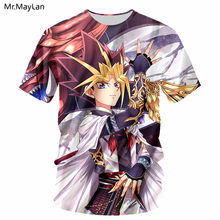 Anime Yu Gi Oh Monst 3D Print Men/Women T-shirt Hiphop Fashion O neck T shirt Tshirt Girl Kawaii Tee Tops Clothing Harajuku 5XL(China)