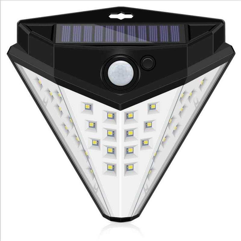 32 LED Outdoor Solar Wall Lamp PIR Motion Sensor Waterproof Light Garden Light Path Emergency Security Light 3 Sided Luminous