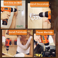 12V 16.8V 24V Waterproof Cordless Rechargeable Lithium Battery Multifunctional ScrewDriver Electric Drill
