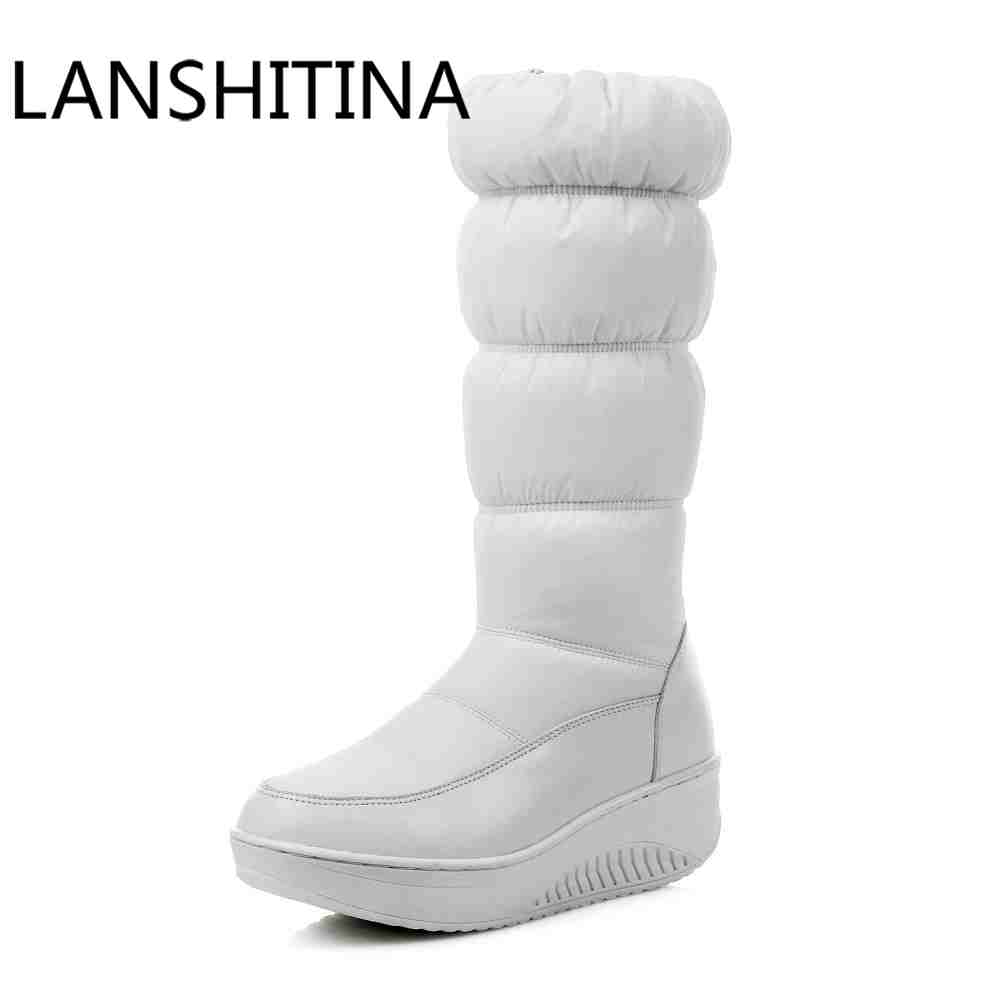 Big size 35-44 Keep Warm Women boots mid-calf snow boots cotton down shoes waterproof boots Platforms Wedges heels winter boots nuckily men mid calf socks warm cotton made