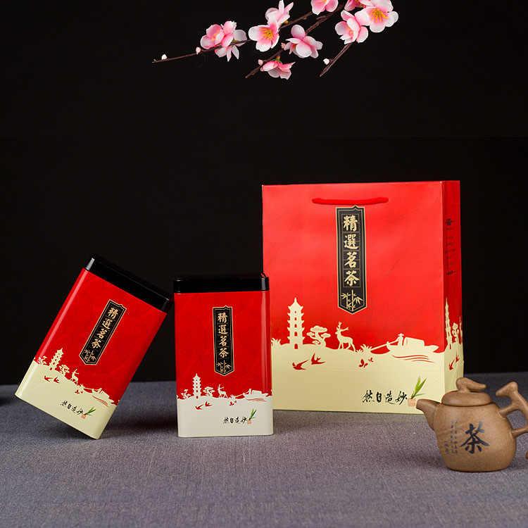 Xin Jia Yi Packaging Hot Sale Tea Tins Custom Plain In Silver Metal Rectangular Tea Ti Boxes Tin Can For Cookies Candys