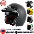 Torc casco de moto casco de motocross/moto jet casco vintage/open face retro 3/4 medio casco/t57, ECE envío libre