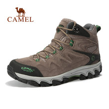 CAMEL Outdoor High-Top Laces-Up Hiking Shoes For Men Wear-resistant Waterproof Warm Antiskid Sports Walking Climbing Trekking
