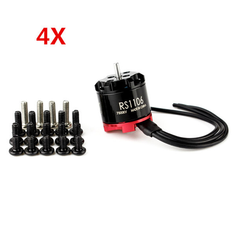 4pcs EMAX RS1106 7500KV 6000KV Micro Brushless Motor CW Thread For RC Camera Drone FPV Racing Frame Spare Part стоимость