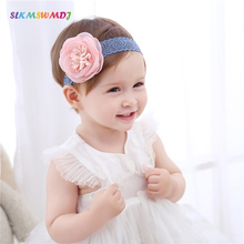 SLKMSWMDJ childrens hair accessories baby chiffon band little girl flower headdress princess style