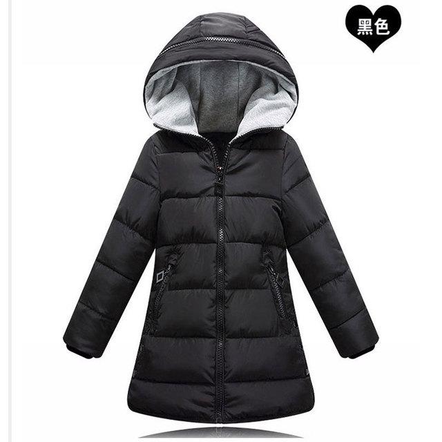 79a22dbb8 Otoño Invierno adolescentes Niñas Ropa niños Chaqueta de algodón con capucha  abrigos para niños ropa de