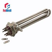 304 Edelstahl 3U Rohr Bündel Elektrischer Wasser Heizelement für Wassertank DN40/1,5 zoll/47mm