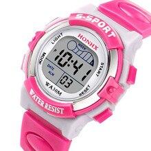 Модные водонепроницаемые детские часы для мальчиков, студентов, цифровой светодиодный Будильник, повседневные спортивные наручные часы