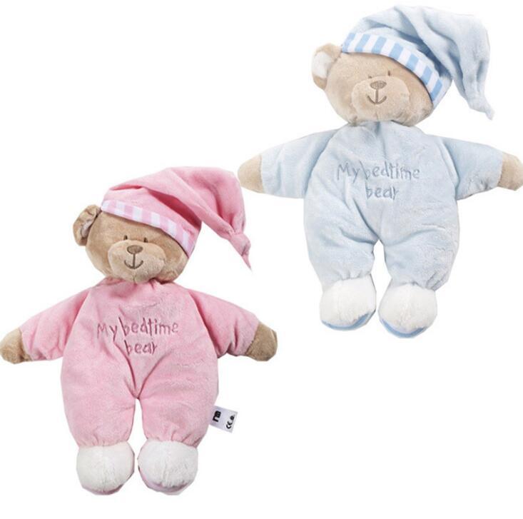 2018 Kawaii Teddy Bear Stuffed Toys Stuffed Animal Bear Plush Kawaii Plush Toys Soft Bedtime Sleep Doll Newborn Baby Kids Toy