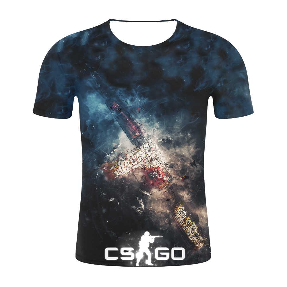 Брендовая одежда хип-хоп уличные CS GO Gamers мужские футболки 2019 летние новые высококачественные футболки с 3d принтом csgo мужские уютные футболки