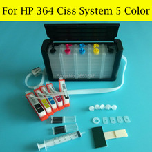 NEW!! 5 Color Continuous Ink Supply System For HP 364 Ciss C410 C410A C410B 7510 C309G C309A C309N C310A Printer With ARC Chip цена