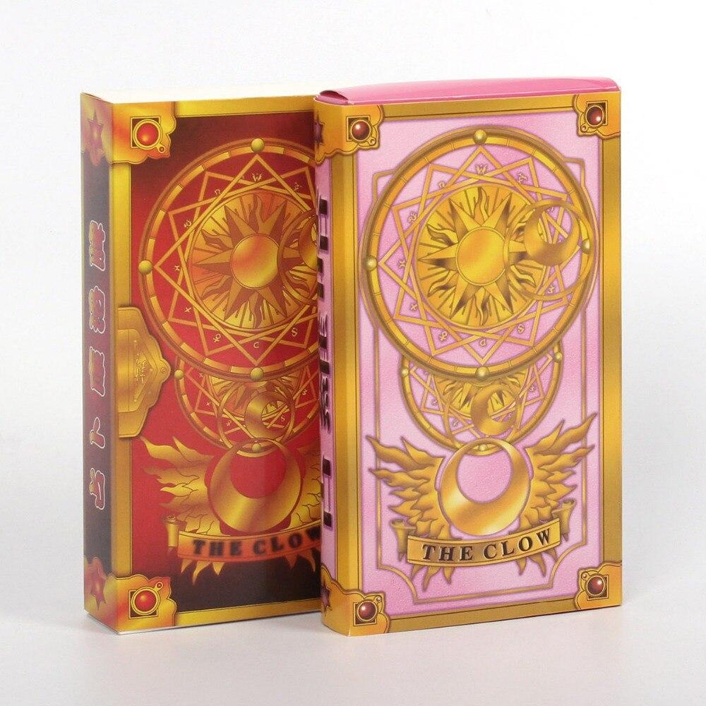 55 unids piezas Anime Cosplay tarjeta Captor Sakura KINOMOTO Clow tarjetas Tarot