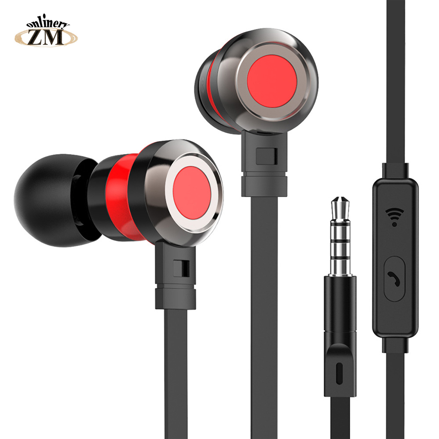 3.5mm Jack In-ear Earphone Wired Super Bass Sound Earbud With Mic For Samsung Xiaomi Huewei Nokia Oppo MP3 Fone De Ouvido