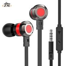 купить 3.5mm Jack In-ear Earphone Wired Super Bass Sound Earbud with Mic for Samsung Xiaomi huewei nokia oppo MP3 fone de ouvido по цене 123.1 рублей
