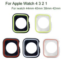 Dual Colors Watch Case For Apple Watch 4 3 2 1 TPU Soft Shell For iwatch 44mm 40mm 38mm 42mm Protective Cover Frame Accessories цена и фото