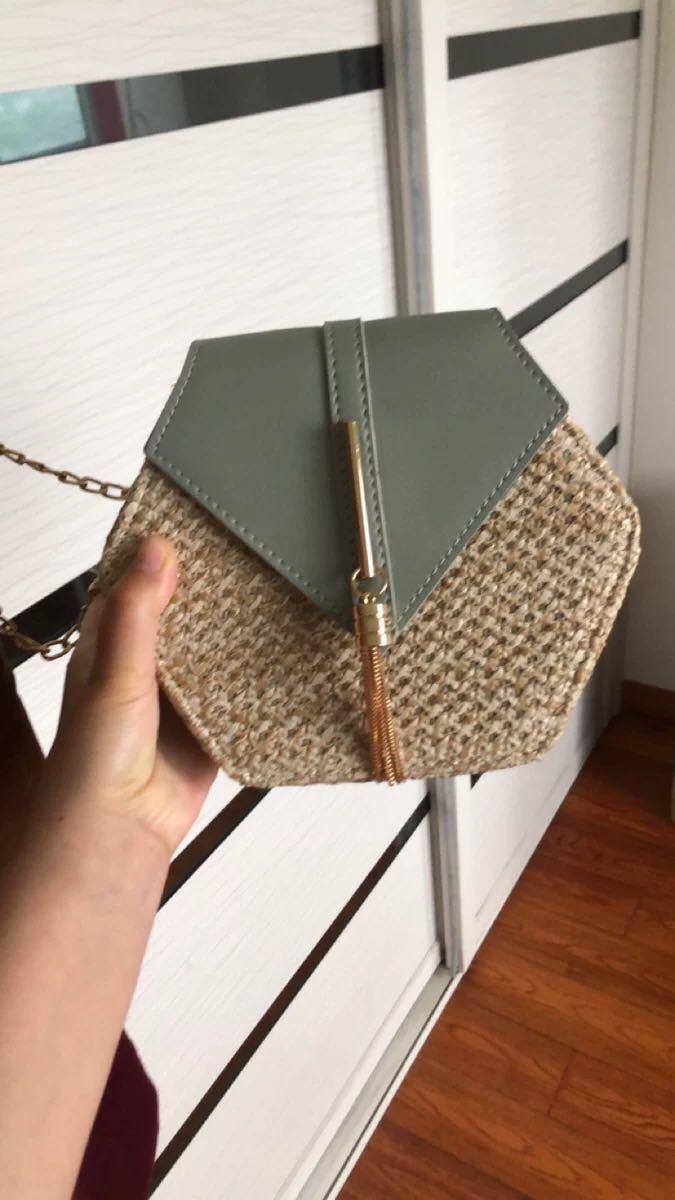 Hexagon Mulit Style Straw+leather Handbag Women Summer Rattan Bag Handmade Woven Beach Circle Bohemia Shoulder Bag New Fashion 7