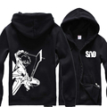 Anime SAO hoodies men zipper and sweatshirts M-4XL hip hop  bape hoodie streetwear tracksuit