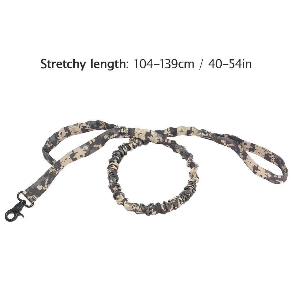 犬の訓練バンジーリーシュ弾性犬リードロープ小型犬の鎖二重制御ハンドル