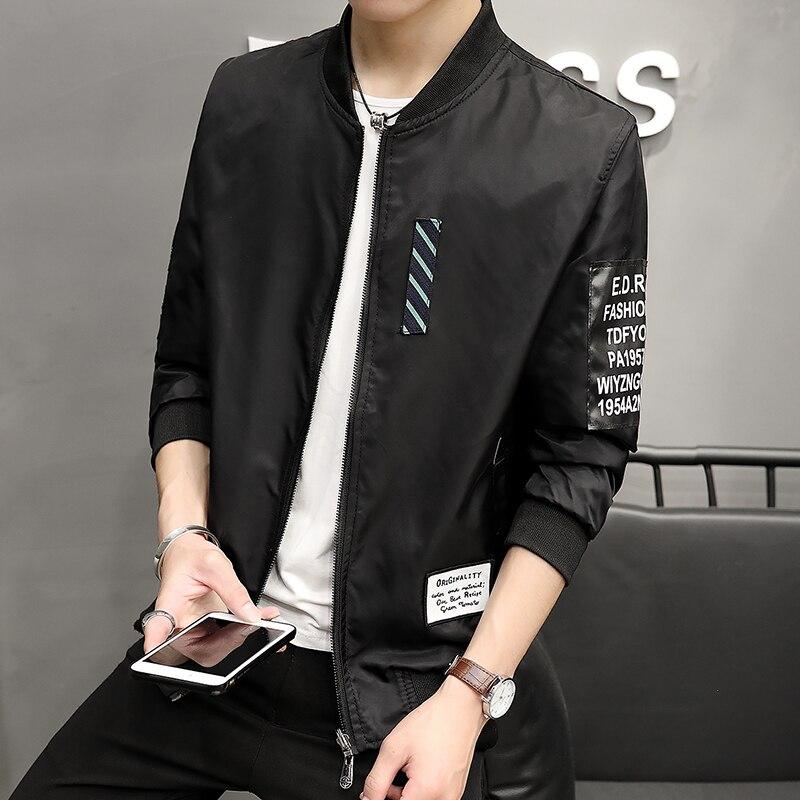 HOT 2017 Autumn new cartoon print jacket men on both sides wear teenager baseball service Japanese