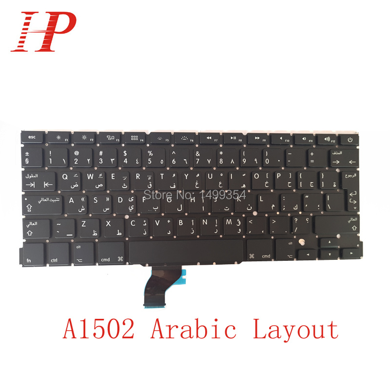 New A1502 Arabic AR Keyboard For Apple Macbook Pro 13 Retina A1502 Keyboard Arabic Standard 2013 2014 2015 ...