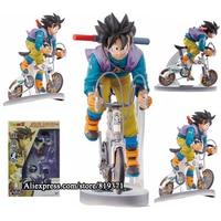 2015 Hot Toys 23cm Dragon Ball Z Games Free Shipping Figurines Super Saiyan Son Goku Bicycle