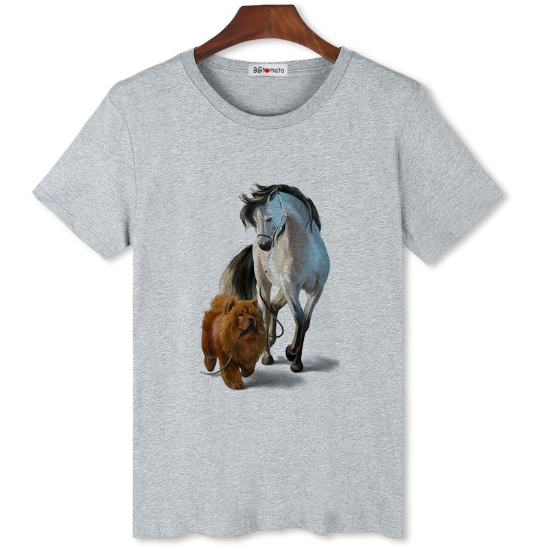 BGtomato A Horse And A Dog Funny T-shirt Mens Original Brand Casual Tops Mens Cheap Sale Brand Tshirt Short Sleeve Summer Tops