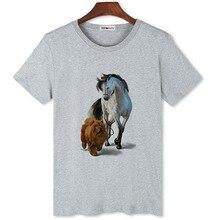 Funny T-Shirt Brand Short-Sleeve Casual Tops Mens Original Bgtomato Dog Horse Sale Cheap