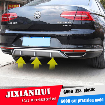 For Passat B8 Body kit spoiler 2017-2019 For Passat B8 ABS Rear lip rear spoiler front Bumper Diffuser Bumpers Protector