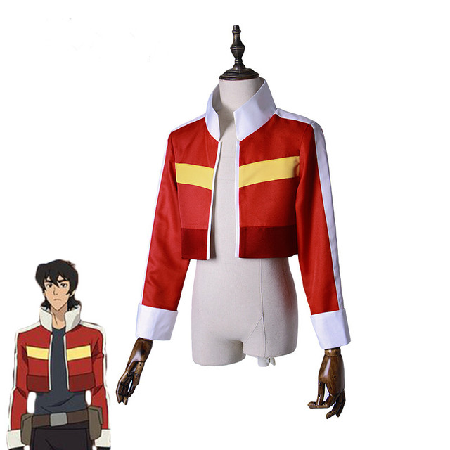 Voltron: 전설적인 수비수 keith red jacket 여성용 남성용 할로윈 코스프레 의상 탑 코트 복장