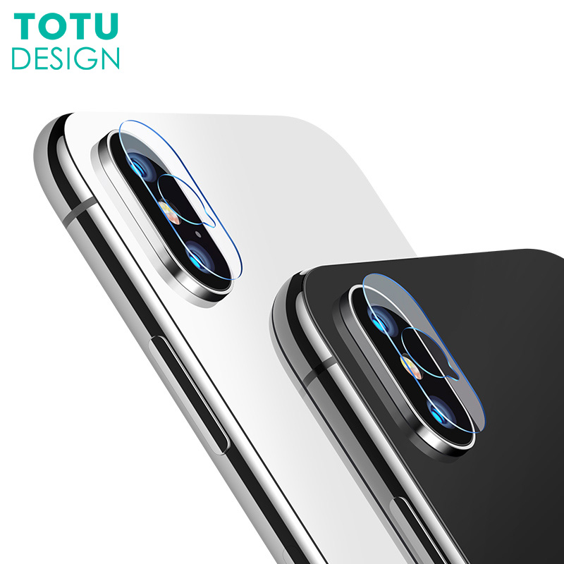 TOTU 2PCS/Lot For iPhone X 10 Camera Len Screen Protector HD Clear Camera Lens Tempered  ...