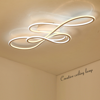 כפול זוהר מודרני led נברשת לסלון חדר שינה lamparas דה techo עמעום תקרת נברשות מנורת גופי