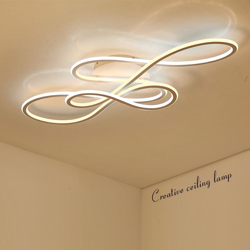 Double Lueur moderne LED Lustre pour salon chambre lamparas de techo gradation plafond lustres lampe appareils
