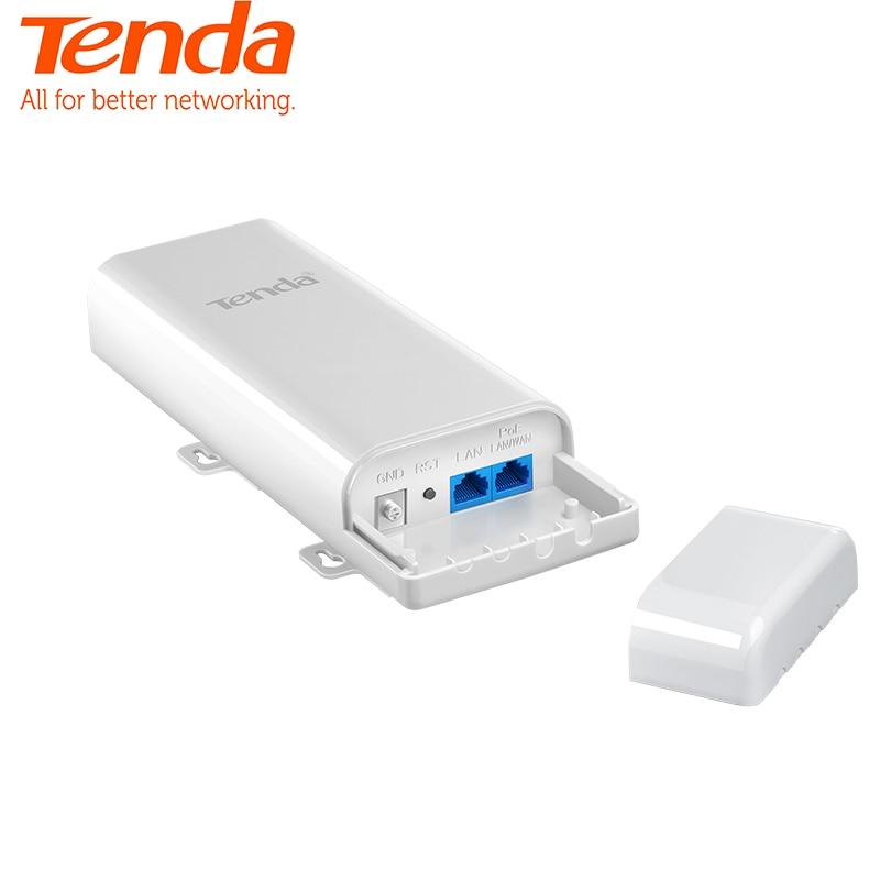 Tenda O3 150 Mbps extérieur 5 KM 2.4G CPE sans fil WiFi répéteur Extender routeur AP Point d'accès pont Wi-Fi avec adaptateur POE