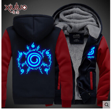 Naruto Shippuden Anti Leaf Clouds Noctilucent Akatsuki Anime  Uchiha thick fleece cosplay costume hoodie jacket coat