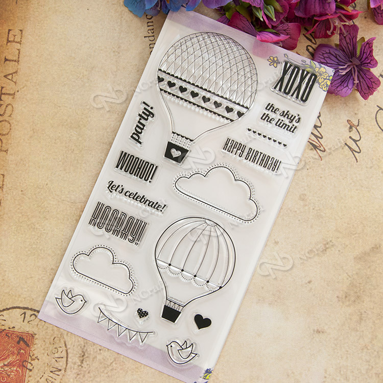 Hydrogen balloon Transparent Clear Silicone Stamp/Seal for DIY scrapbooking/photo album Decorative clear stamp sheets angel and trees clear stamp variety of styles clear stamp for diy scrapbooking photo album wedding gift ll 163