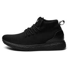 Hot Sale Men High Top Sneakers Brand Shoes Male Mesh Flats Loafers Slip on Breathable Spring Autumn Winter  Casual