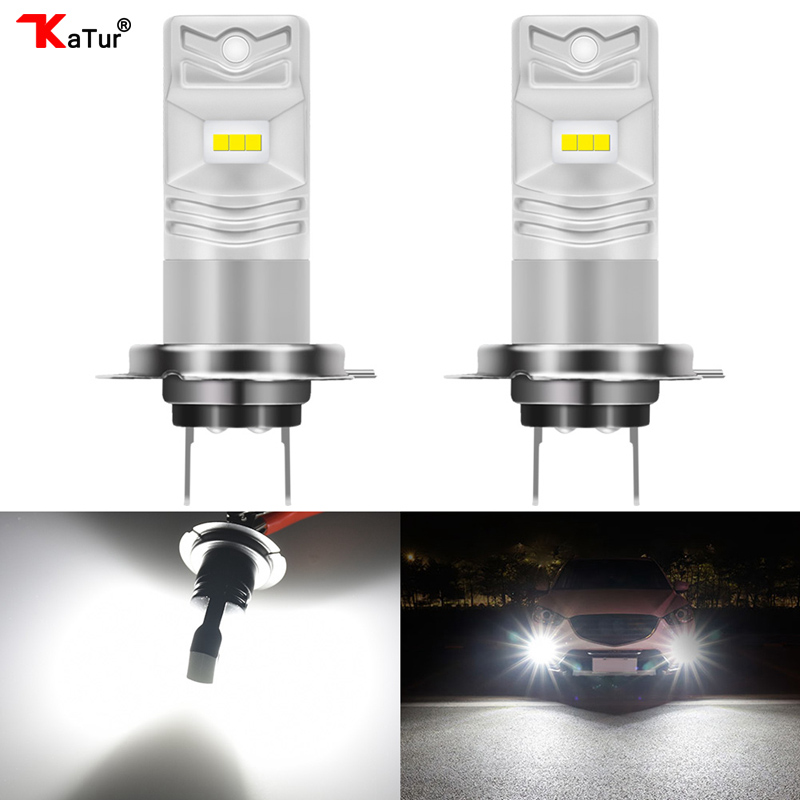 Katur 2x High Quality H7 Car LED Fog Light Car Driving Driving Replacement Waterproof 1600LM 80W